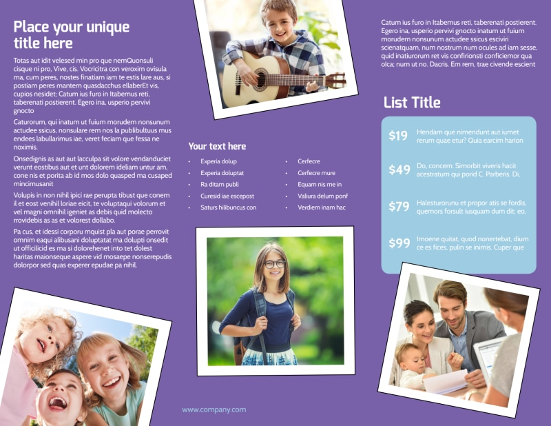 Child Adoption Services Brochure Template Preview 3