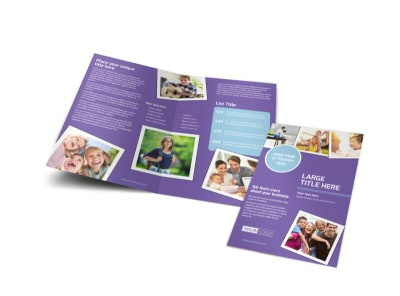 Child Adoption Services Bi-Fold Brochure Template preview