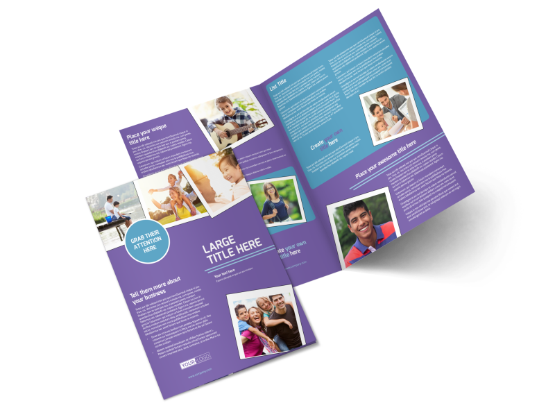 Child Adoption Services Brochure Template Preview 1