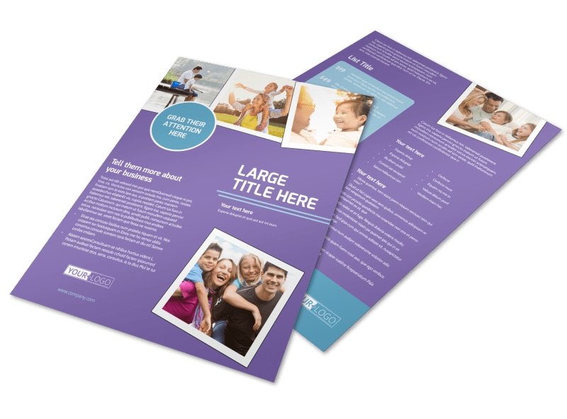 Child Adoption Services Flyer Template Preview 4