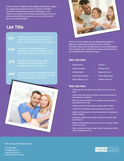 Child Adoption Services Flyer Template Preview 2