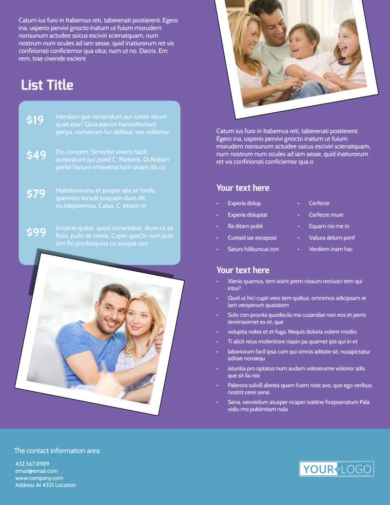 Child Adoption Services Flyer Template Preview 3