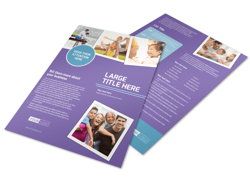 Child Adoption Services Flyer Template Preview 1
