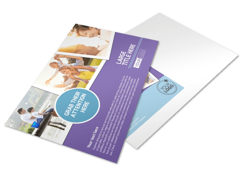 Child Adoption Services Postcard Template