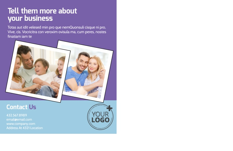 Child Adoption Services Postcard Template Preview 3