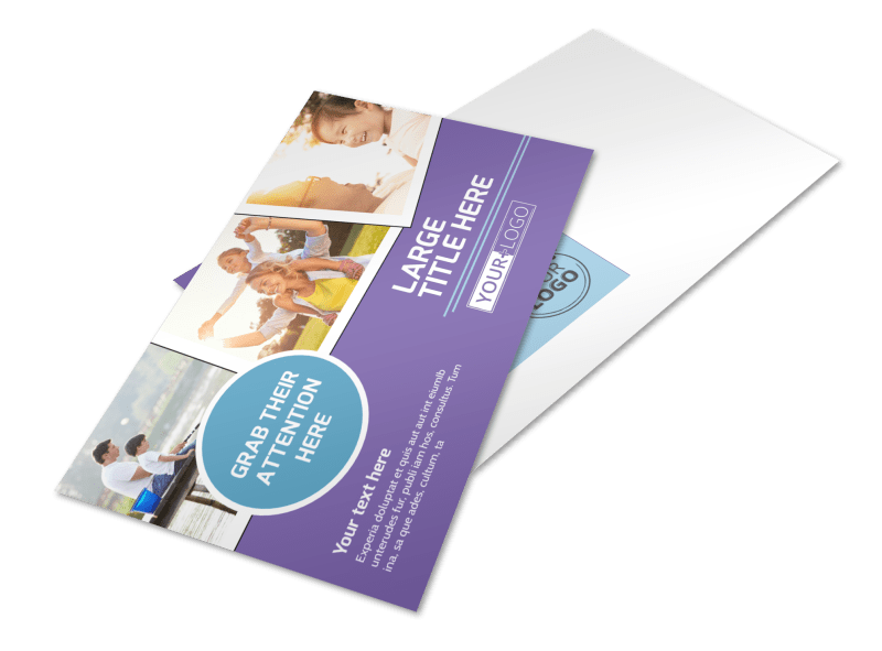 Child Adoption Services Postcard Template Preview 1