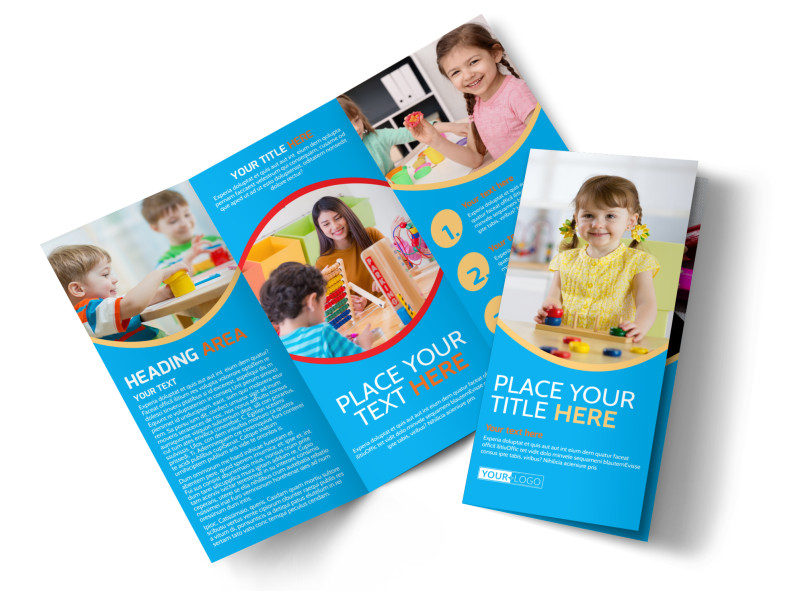 Child Development Program Tri-Fold Brochure Template