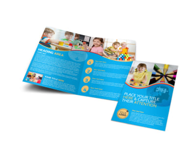 Child Development Program Bi-Fold Brochure Template