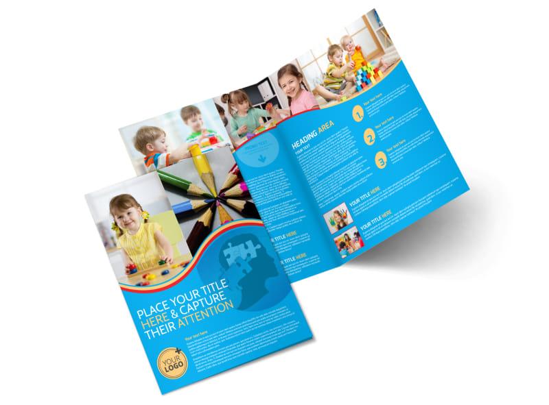 Child Development Program Bi-Fold Brochure Template