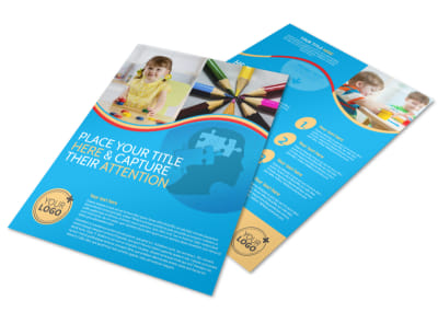Child Development Program Flyer Template preview