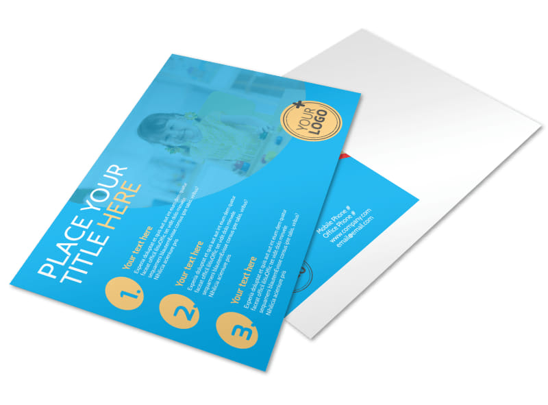 Child Development Program Postcard Template