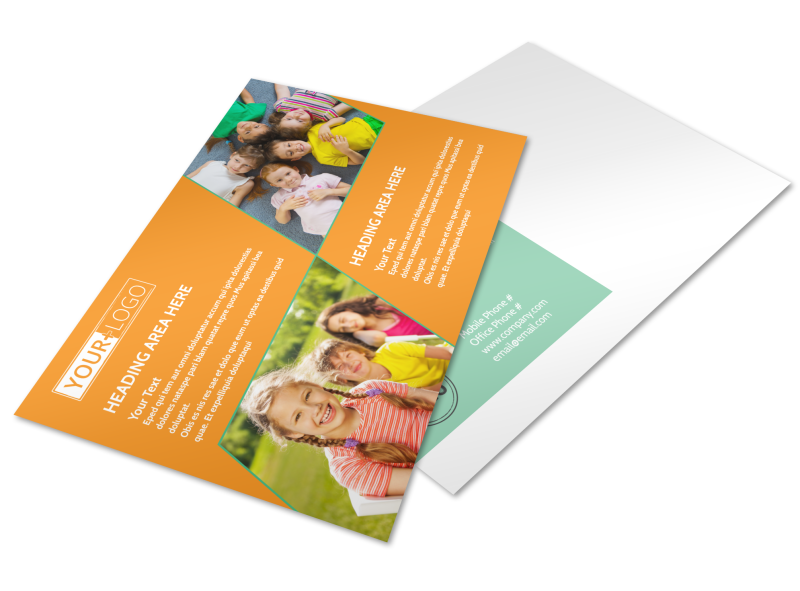 Kids Christian Child Care Postcard Template Preview 1