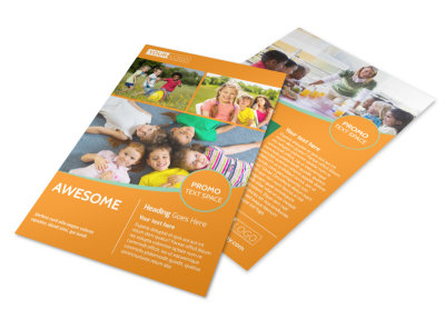 kids christian child care flyer template