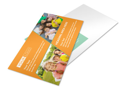 Kids Christian Child Care Postcard Template