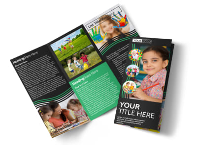 Amazing Kids Daycare Tri-Fold Brochure Template preview