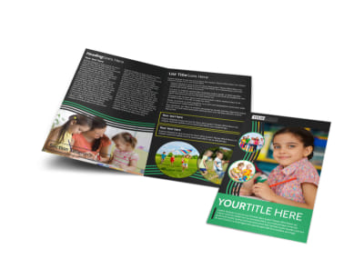 Amazing Kids Daycare Bi-Fold Brochure Template