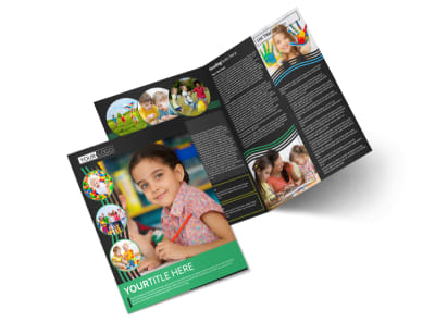 Amazing Kids Daycare Bi-Fold Brochure Template preview