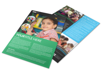Amazing Kids Daycare Flyer Template preview