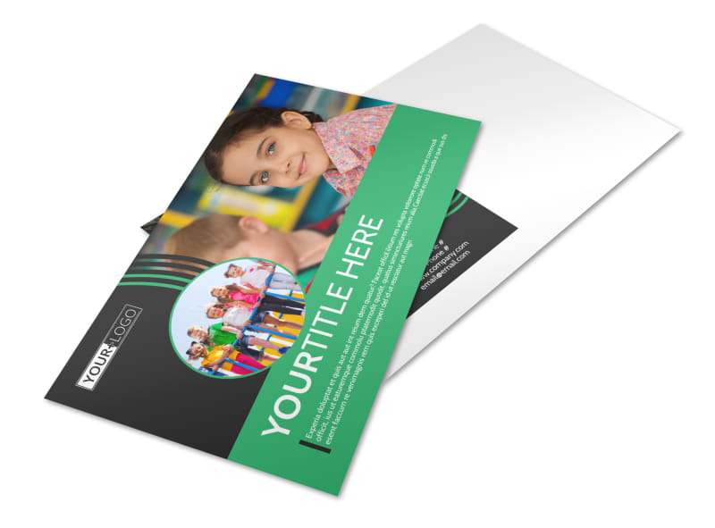 Amazing Kids Daycare Postcard Template