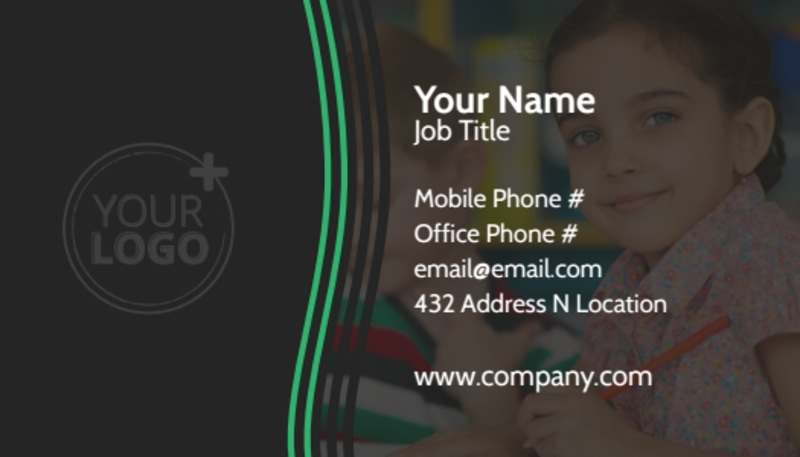 Amazing Kids Daycare Business Card Template Preview 2