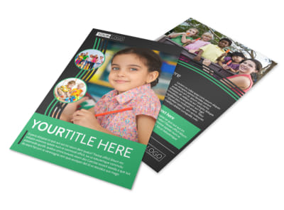 Amazing Kids Daycare Flyer Template