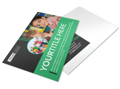 Amazing Kids Daycare Postcard Template preview