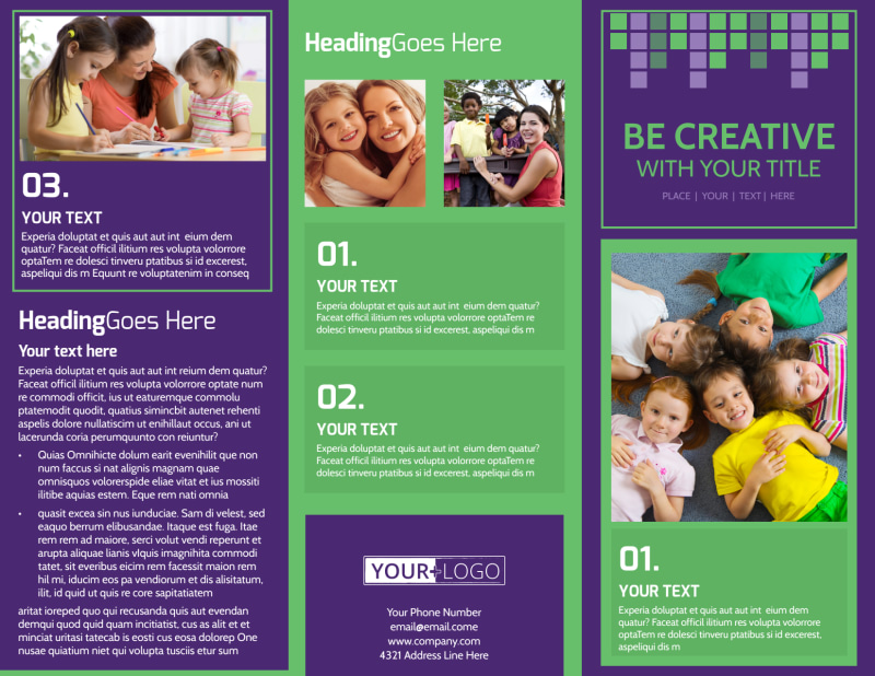 Little Stars Daycare Brochure Template Preview 2