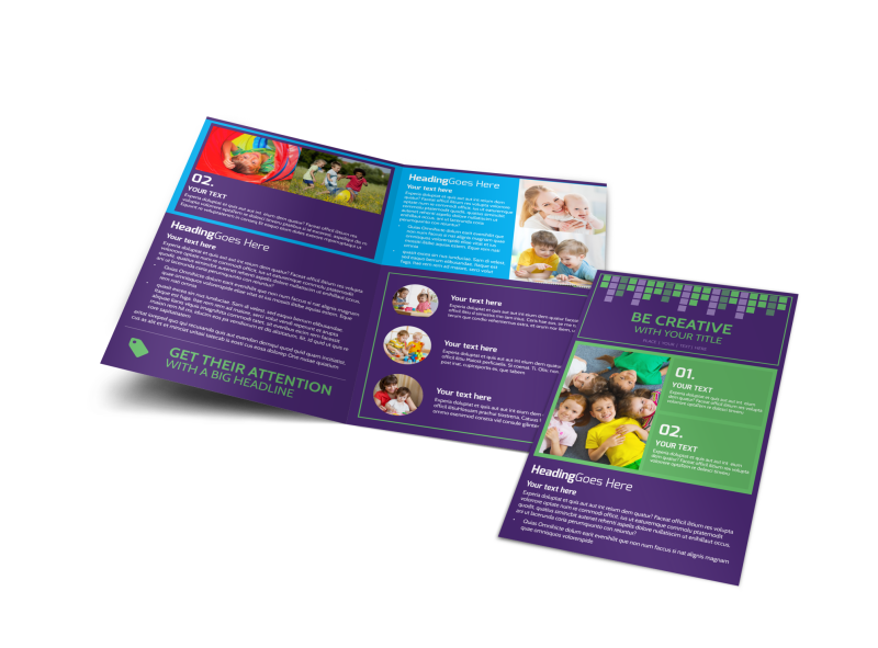 Little Stars Daycare Brochure Template Preview 1