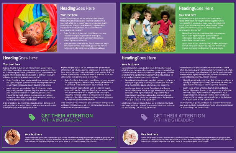 Little Stars Daycare Brochure Template Preview 3