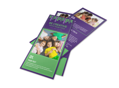 Little Stars Daycare Flyer Template preview