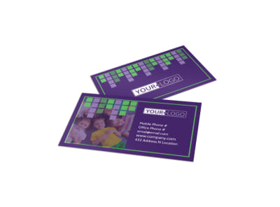 Little Stars Daycare Business Card Template preview