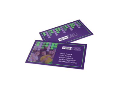 Little Stars Daycare Business Card Template