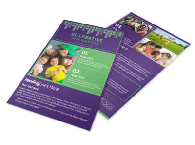Little Stars Daycare Flyer Template