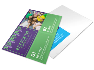 Little Stars Daycare Postcard Template preview