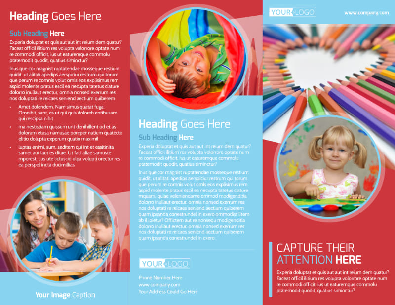 Early Preschool Childcare Brochure Template Preview 2