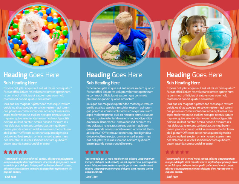 Early Preschool Childcare Brochure Template Preview 3