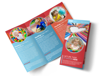 Early Preschool Childcare Tri-Fold Brochure Template