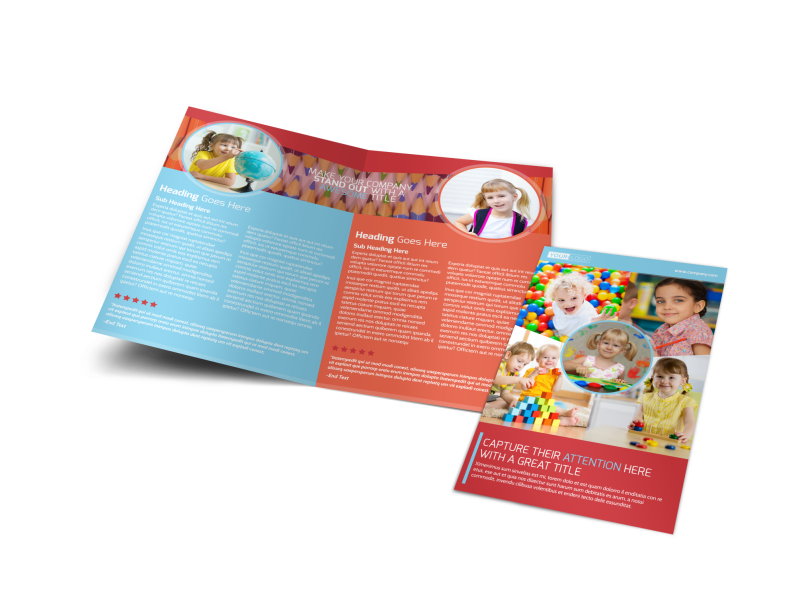 Early Preschool Childcare Brochure Template Preview 1