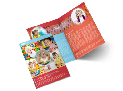 Early Preschool Childcare Bi-Fold Brochure Template preview