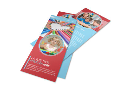 Early Preschool Childcare Flyer Template preview