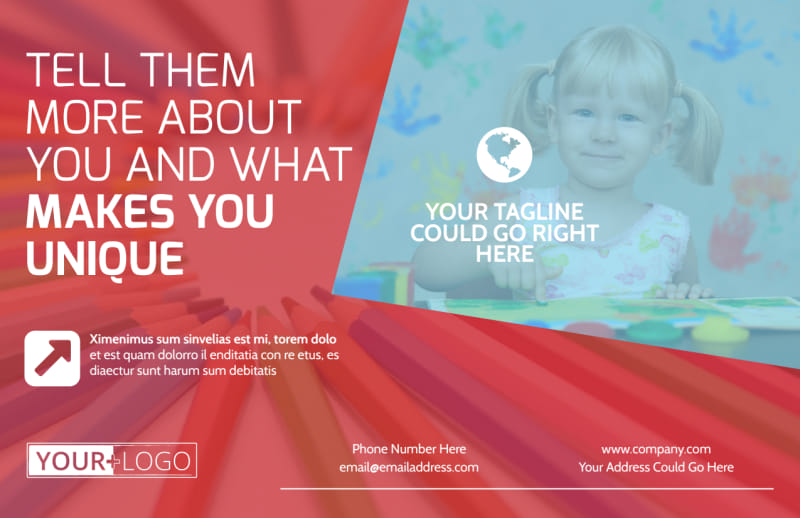 Early Preschool Childcare Postcard Template Preview 2