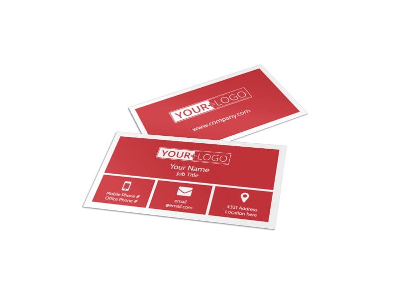 Early Preschool Childcare Business Card Template