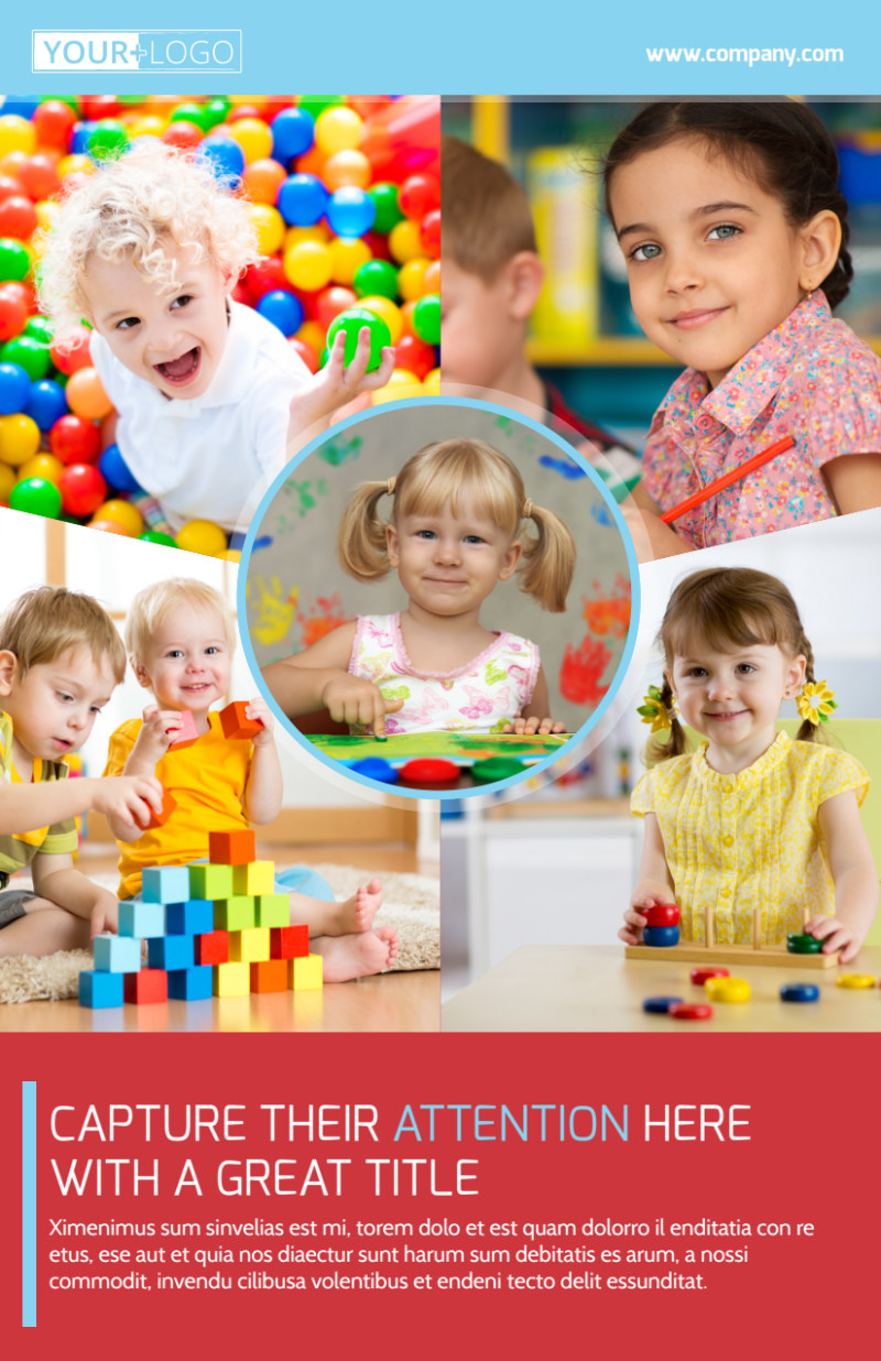 Early Preschool Childcare Flyer Template Preview 2