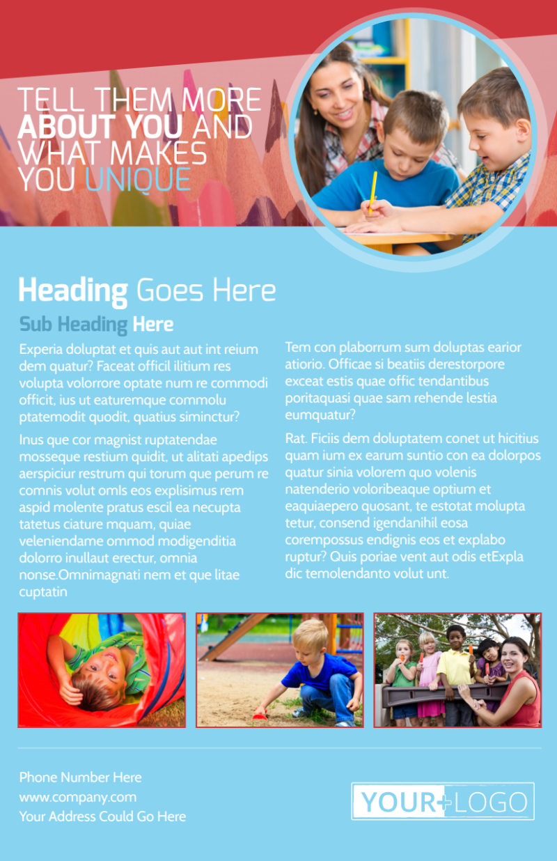 Early Preschool Childcare Flyer Template Preview 3