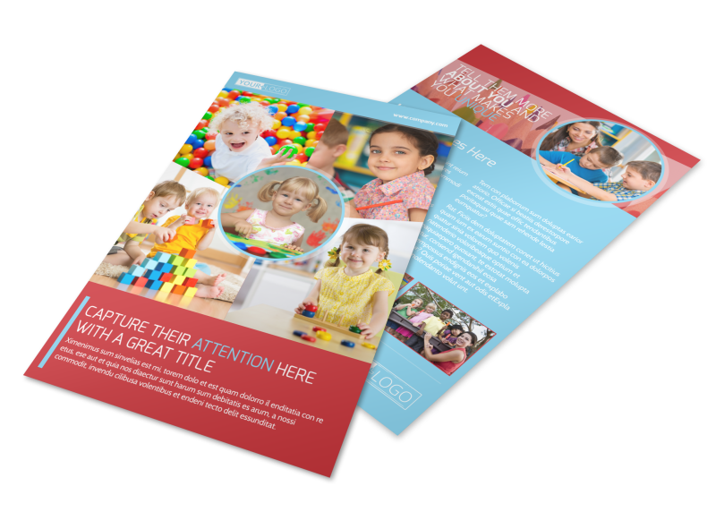 Early Preschool Childcare Flyer Template Preview 1