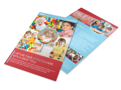Early Preschool Childcare Flyer Template