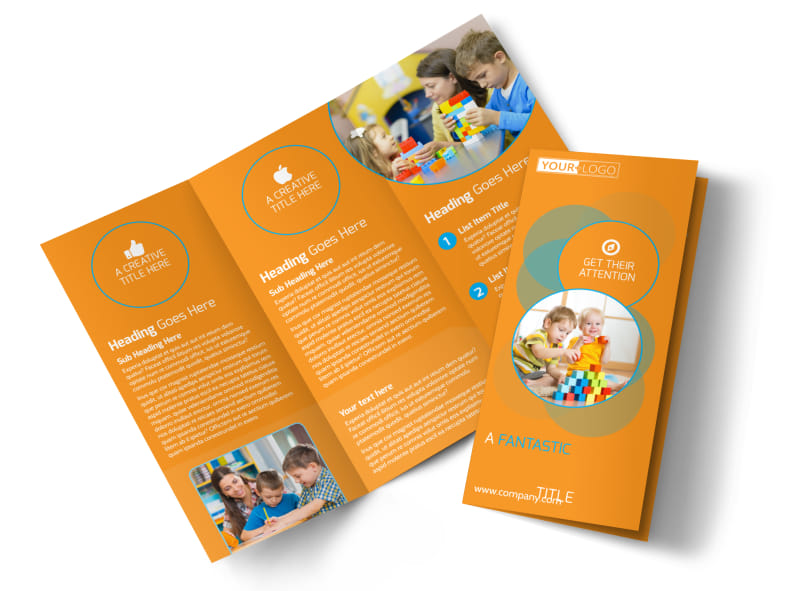 Head Start Child Development Tri-Fold Brochure Template