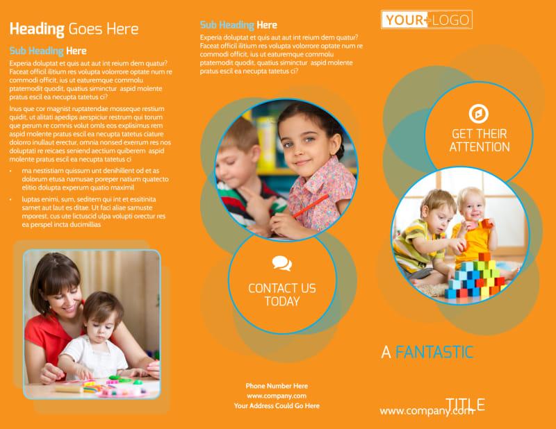 Head Start Child Development Brochure Template Preview 2