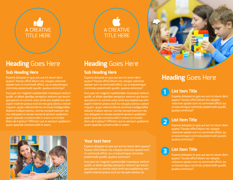 Head Start Child Development Brochure Template Preview 3