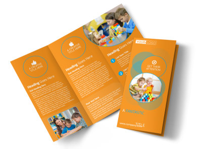 Head Start Child Development Tri-Fold Brochure Template preview